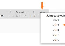 Neuer Funktionen: Weniger lästige Datumsselektionen